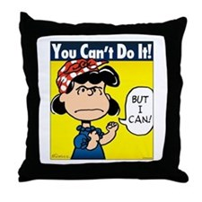 Lucy the Riveter Throw Pillow