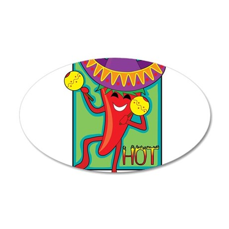 Mexican Chili 22x14 Oval Wall Peel