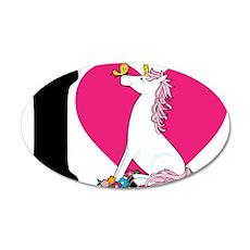 I Love Unicorns 38.5 x 24.5 Oval Wall Peel