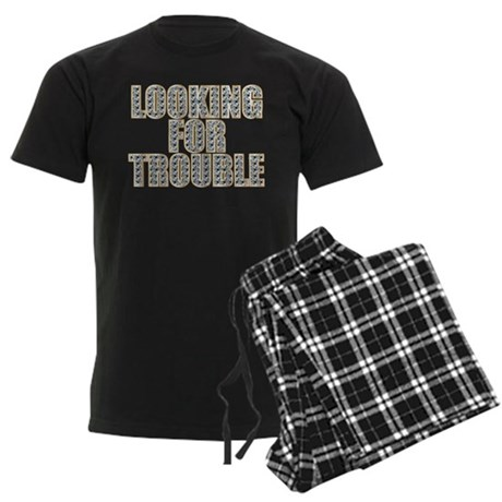Looking for Trouble Men's Dark Pajamas