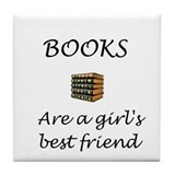 Girl's Best Friend Tile Coaster