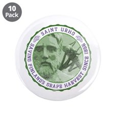 "St. Urho Seal 3.5"" Button (10 pack)"