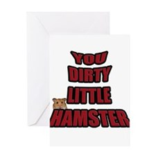 AMR Designs Dirty Hamster Greeting Card