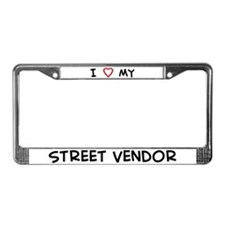 I Love Street Vendor License Plate Frame