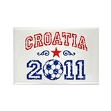 Croatia Soccer 2011 Rectangle Magnet