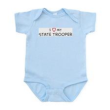 I Love State Trooper Infant Creeper