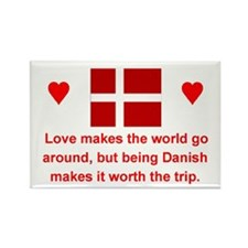 "Danish Love Magnet (3""x2"")"