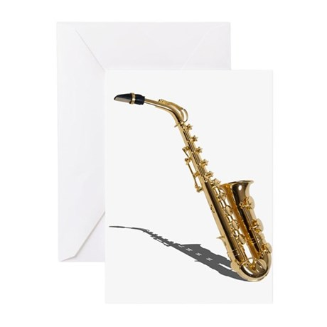 Saxophone Greeting Cards (Pk of 20)