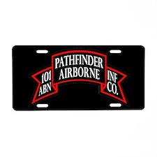 101st Pathfinder License Plate