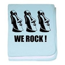 Easter Island: We Rock baby blanket