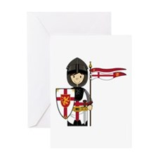 Cute Little Medieval Knight Greeting Card