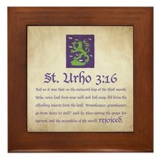 St. Urho 3:16 Framed Tile