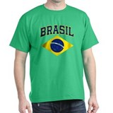 Brazil Mens Dark T-shirts
