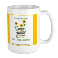 Sunflowers & Books 4 Libraries Mug