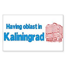 Oblast in Kaliningrad Decal