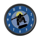 Skateboard Large Wall Clock