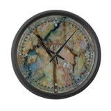 Turquoise Marble Large Wall Clock