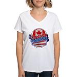 Canadian American Women's V-Neck T-Shirt