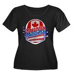 Canadian American Women's Plus Size Scoop Neck Dar