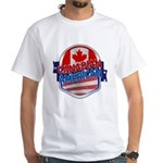 Canadian American White T-Shirt
