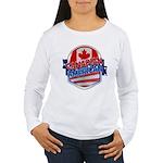 Canadian American Women's Long Sleeve T-Shirt