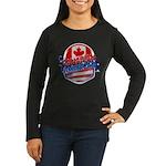 Canadian American Women's Long Sleeve Dark T-Shirt