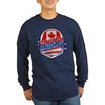 Canadian American Long Sleeve Dark T-Shirt