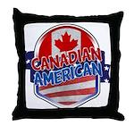 Canadian American Throw Pillow