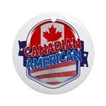 Canadian American Ornament (Round)