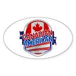 Canadian American Sticker (Oval)