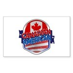 Canadian American Sticker (Rectangle)