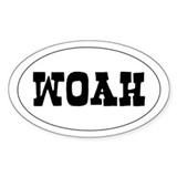 WOAH - Oval Decal
