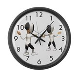 Fencing Large Wall Clock