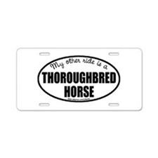 Thoroughbred Horse Aluminum License Plate