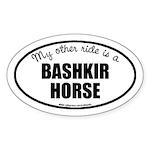 American Bashkir Curly Horse Sticker (Oval)