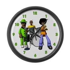 Music Band Large Wall Clock