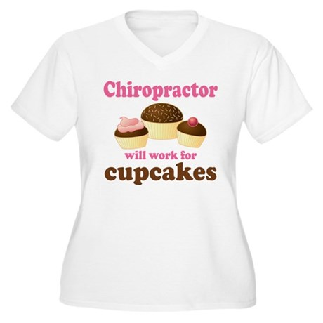 Funny Chiropractor Women's Plus Size V-Neck T-Shir