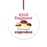 Funny Civil Engineer Ornament (Round)