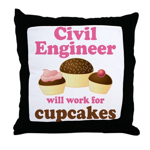 Funny Civil Engineer Throw Pillow