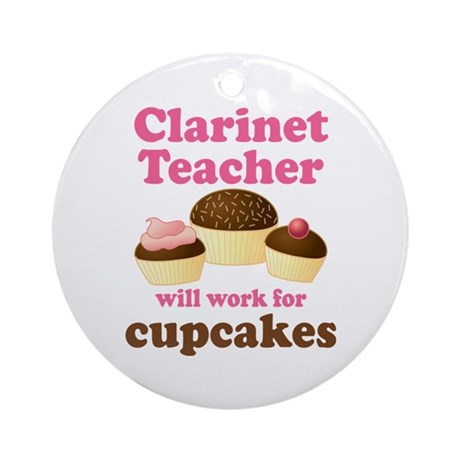 Funny Clarinet Teacher Ornament (Round)