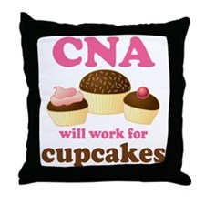 Funny CNA Throw Pillow