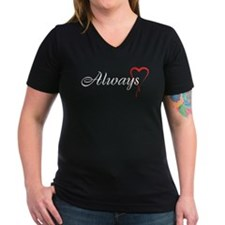 Always Women's V-Neck Dark T-Shirt