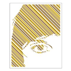 Retro Stripe Girls Face Posters
