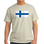 Finland Finish Blank Flag Ash Grey T-Shirt