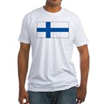 Finland Finish Blank Flag Fitted T-Shirt
