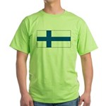 Finland Finish Blank Flag Green T-Shirt