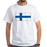Finland Finish Blank Flag White T-Shirt