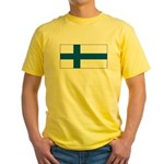 Finland Finish Blank Flag Yellow T-Shirt