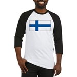 Finland Finish Blank Flag Baseball Jersey