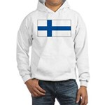 Finland Finish Blank Flag Hooded Sweatshirt
